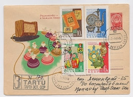 MAIL Post Stationery Cover USSR RUSSIA Set Stamp Art  Radio Literature Toy Estonia Ukraine Providences Ethnic - 1923-1991 URSS