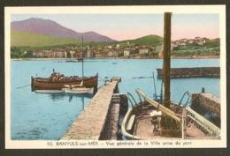 CP-BANYULS-sur-MER - Vue Générale De La Ville Prise Du Port - Banyuls Sur Mer