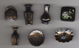 Série Quasi-complète 7/8 Grosses Fèves Brillantes Filets OR PONT A MOUSSON 2007 Faïences De LORRAINE - Regions