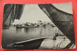 Milazzo Messina Reti Al Porto 1961 Leggera Usura Negli Angoli - Altre Città
