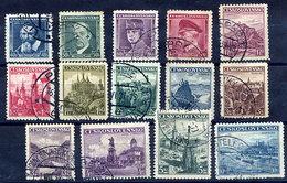 CZECHOSLOVAKIA 1935-36 Definitive Issue, Used.  Michel 347-359 - Czechoslovakia
