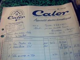 Facture Entéte Appareils Electro Domestiiques Calor Annee 1955 - France