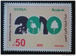 Syria 2010 MNH - International Year Of Biodiversity - Animals - Environment - Syria