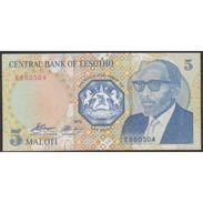 TWN - LESOTHO 10a - 5 Maloti 1989 Prefix E UNC - Lesotho