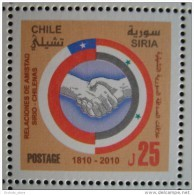 Syria 2010 MNH - Joint Issue With Chile - Friendship Relation - Flag - Syria