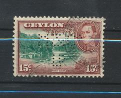 Ceylan - Ceylon  Perfin - Perforé - Ceylan (...-1947)
