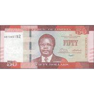 TWN - LIBERIA 34 - 50 Dollars 2016 Prefix AB UNC - Liberia