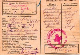 Kriegsgefangenenpost RED CROSS Stalag II C Greifswald Reçu De Colis Vers JODOIGNE 1942 + Censure FIXED PRICE ! - Dokumente