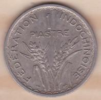 INDOCHINE. UNION FRANCAISE. 1 PIASTRE 1947. Tranche Striée - Kolonies