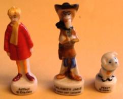 Percy -calamity Jane - Arthur/ Lot De 3 Fèves - Disney
