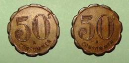 50 C Lot De é Pieces - Monétaires / De Nécessité