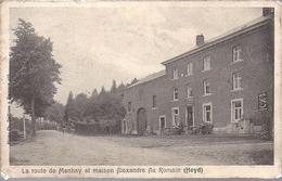Heyd Route De Manhay Et Maison Alexandre Coin Sup Gauche Legerement  Croque Etat Voir Scan - Belgique