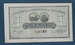 Chambre De Commerce De TOULOUSE - Billet De  1 Franc - Chambre De Commerce