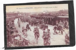 CPA Camp De Coetquidan Arrivée Des Troupes En Gare De Guer - Guer Cötquidan