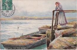 Bn - Cpa Illustrée Tuck - Oilette - The Breezy Sea - Waiting For The Ferry - Tuck, Raphael