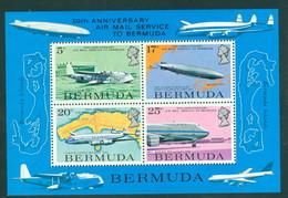 Bermuda 2, 50th Anniv Air Mail Service, 1975 Issue, Scott 321a, Mint NH, Neuf** Sans Charniere, - Bermuda