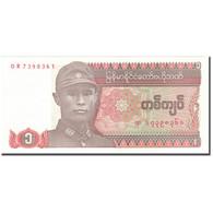 Billet, Myanmar, 1 Kyat, KM:67, NEUF - Myanmar
