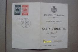 TRIESTE CARTA D'IDENTITà ANNO VI DEL 1928 CON MARCHE FISCALI - Non Classificati