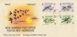 Enveloppe  FDC  1er Jour   NOUVELLES  HEBRIDES   Oiseaux   1980 - FDC