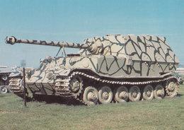 Ferdinand Panzerjager Tiger German WW2 Tank At Aberdeen Military Postcard - War 1939-45