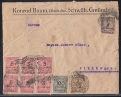 DR Brief Mif Minr.35x 312A,6x 317,322,323A,325A Schwäbisch Gmünd 6.11.23 - Briefe U. Dokumente
