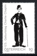AUSTRIA 2014 125th Birth Anniversary Of Charlie Chaplin: Single Stamp UM/MNH - 2011-... Nuevos & Fijasellos