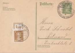 DR Ganzsache Minr.P170 Zfr. Minr.385 OR Walze SST Norderney 25.9.28 - Deutschland