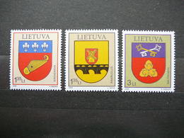 Coats Of Arms. Lietuva Litauen Lituanie Litouwen Lithuania 2009 MNH # Mi. 1000/2 - Lituanie