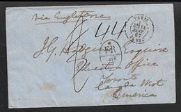 1867 LSC  - PARIS Vers TORONTO, CANADA Par ANGLETERRE - DESTINATION PEU COMMUN - Marcophilie (Lettres)