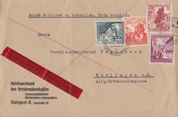 DR Brief Eilbote Mif Minr.676,679,680,683 Stuttgart 8.3.39 - Deutschland