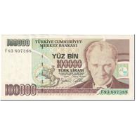 Billet, Turquie, 100,000 Lira, 1997-2001, Undated(1997-2001), KM:206, SUP+ - Turquie