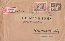 DR R-Brief Mif Minr.822,854 Hamburg 29.6.44 - Deutschland
