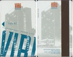 ESTONIE PHONE CARD PRIVEE 100 KR HOTELL VIRU UTILISABLE UNIQUEMENT DEPUIS L HOTEL VALID 97/12 - Estonia