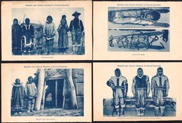 AROUND 1910 - 9 X VINTAGE OLD CARD NEWFOUNDLAND & LABRADOR - INUIT SLEIGH - ESKIMO - ALASKA - SIBERIA - Zonder Classificatie