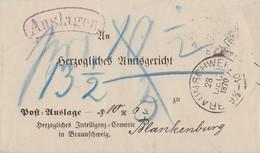 Braunschweig Auslagen-Brief K2 Braunschweig 28.12.70 Gel. Nach K2 Blankenburg 28.12.70 - Braunschweig