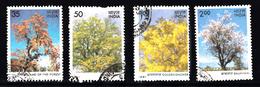 India 1981 Mi Nr 877 - 880  Bomen, Tree, Forest - India
