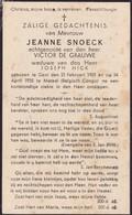 Gent, Matadi, Belgisch Congo, 1935, Jeanne Snoeck, De Grauwe, Hick - Devotieprenten