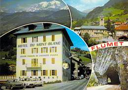 73 Flumet Vers Ugine Centre Familial De Vacances De La FNACA Hôtel Du Mont Blanc En 1987 Citroën Dyane Peugeot Coupé 204 - France