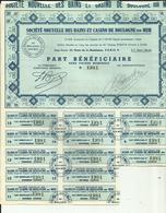 62 - Pas De Calais - Boulogne Sur Mer - Action - Titre- Part Bénéficiaire- -Réf.26. - Casino