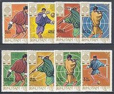 Bhutan 233-40, Bl 19 Mexico Olympics, Mint NH, Scott 97-97H - Bhutan