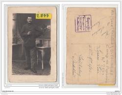 9664  AK/PC/CARTE PHOTO 2877 POSTCARD W.W.1 CAMP DE PRISONNIERS A QUEDLINBURG CACHET SOLDAT PORTRAIT - Quedlinburg