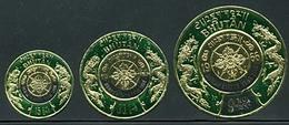 Bhutan 242-244 Coin Design, Mint NH, Scott 98-98B - Bhoutan