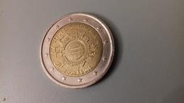 PIECE DE 2 EURO COMMEMORATIVE ITALIE 2012 - 10 ANS DE L'EURO TYPE A - Italie
