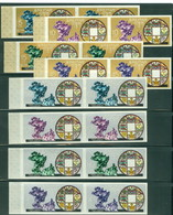 Bhutan 102-102G Imperf Pairs, UPU, Mint Disturbed Gum, Scott 102-102G - Bhutan