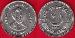 "Pakistan 50 Rupees 2017 ""Dr. Ruth Katherina Martha Pfau"" UNC - Pakistan"
