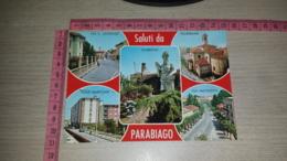 C-62919 SALUTI DA PARABIAGO VIA SAN ANTONIO VIALE MARCONI VIA MATTEOTTI PANORAMA VEDUTE GIARDINO - Altre Città