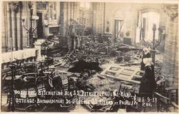 CPA -  Belgique, OOSTENDE  Bombardement De L' Eglise St. Pierre & Paul D'Ostende, 22-9-1917, Carte Photo - Oostende