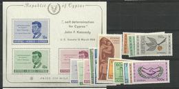 1965 MNH Cyprus, Year Collection, Postfris ** - Zypern (Republik)
