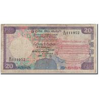 Billet, Sri Lanka, 20 Rupees, 1990-04-05, KM:97c, B+ - Sri Lanka