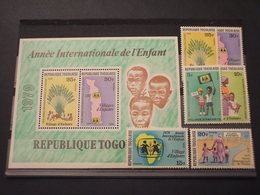 TOGO - 1979 INFANZIA 6 VALORI + BF  - NUOVI(++) - Togo (1960-...)